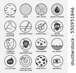 skin icon vector . dry... | Shutterstock .eps vector #550951846