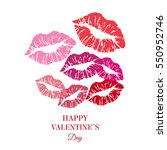 greeting card. happy valentine... | Shutterstock .eps vector #550952746
