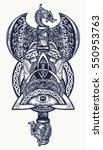 thor's hammer tattoo. axe... | Shutterstock .eps vector #550953763