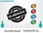 sign guarantee vector... | Shutterstock .eps vector #550953976