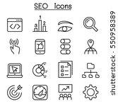 seo   optimization icon set in... | Shutterstock .eps vector #550958389