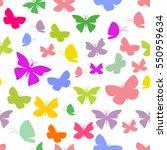 butterflies on a white... | Shutterstock .eps vector #550959634