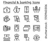 financial   banking icon set in ... | Shutterstock .eps vector #550960306