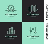 simple vector icon style music... | Shutterstock .eps vector #550960390