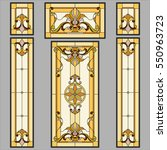 doors classic   stained glass.... | Shutterstock .eps vector #550963723