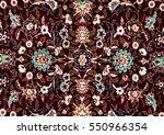 romanian folk seamless pattern... | Shutterstock . vector #550966354