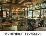 interior of a modern urban... | Shutterstock . vector #550966804