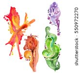 colorful abstract oil forms... | Shutterstock .eps vector #550972270