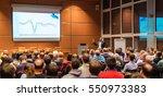 speaker giving a talk in... | Shutterstock . vector #550973383