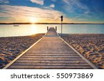 perspective view of a wooden... | Shutterstock . vector #550973869