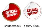 special discount stickers | Shutterstock .eps vector #550974238
