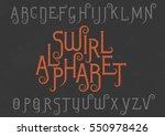 vector alphabet set. capital... | Shutterstock .eps vector #550978426
