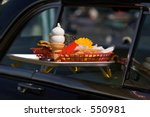 Small photo of Car Hop Tray on Car Window