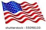 american flag waving. | Shutterstock .eps vector #55098133