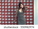 beautiful asian woman | Shutterstock . vector #550982974
