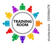training room sign with group... | Shutterstock .eps vector #550986478