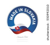 made in slovakia flag blue... | Shutterstock .eps vector #550992010