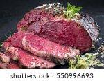 barbecue kobe rib eye steak  ... | Shutterstock . vector #550996693