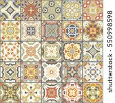a collection of ceramic tiles... | Shutterstock .eps vector #550998598