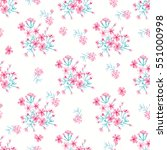 seamless cute pattern of small... | Shutterstock . vector #551000998