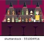 bar  pub  night club interior... | Shutterstock .eps vector #551004916
