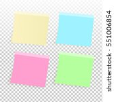 color sticky note isolated on... | Shutterstock .eps vector #551006854