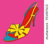 high heel disco sandals. pop... | Shutterstock .eps vector #551007613