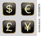 vector icon set  golden... | Shutterstock .eps vector #551008876