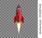 rocket  icon. vector... | Shutterstock .eps vector #551009140