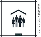 family icon | Shutterstock .eps vector #551009398