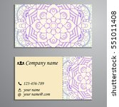 invitation  business card or... | Shutterstock .eps vector #551011408