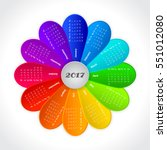 calendar for 2017 year on... | Shutterstock . vector #551012080