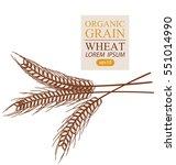 ears of wheat. vector...   Shutterstock .eps vector #551014990