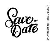 save the date hand written... | Shutterstock .eps vector #551016574