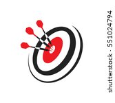 target with three darts  using... | Shutterstock .eps vector #551024794