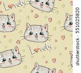 hand drawn seamless pattern...   Shutterstock .eps vector #551025820