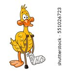 lame duck with pair of crutches....   Shutterstock .eps vector #551026723