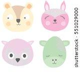 cute animals | Shutterstock .eps vector #551029000
