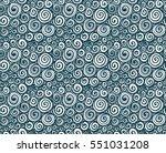 hand drawn doodle spirals... | Shutterstock .eps vector #551031208