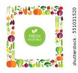vegetables vector illustration   Shutterstock .eps vector #551031520