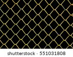 yellow wire grille isolate on...   Shutterstock . vector #551031808