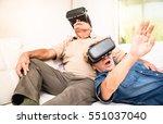 senior couple having fun... | Shutterstock . vector #551037040