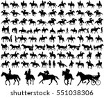 people riding horses... | Shutterstock .eps vector #551038306