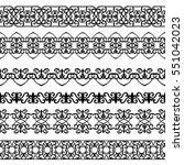 set of black borders isolated... | Shutterstock .eps vector #551042023