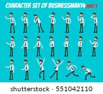 character set of businessman.... | Shutterstock .eps vector #551042110