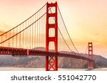 golden gate bridge in san... | Shutterstock . vector #551042770