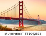 golden gate bridge in san... | Shutterstock . vector #551042836