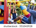 exercise activity family... | Shutterstock . vector #551043928