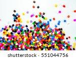 full color beads on white... | Shutterstock . vector #551044756