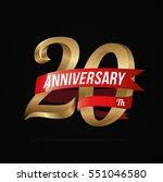 20 years anniversary golden... | Shutterstock .eps vector #551046580